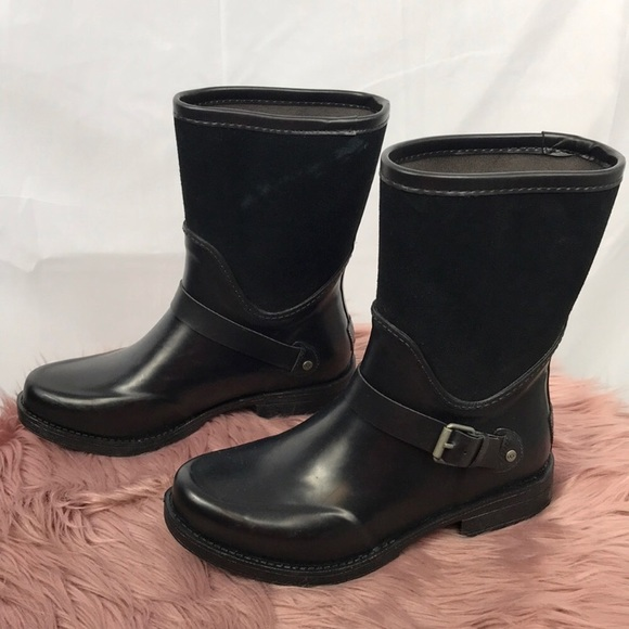 9f81a8078b3 UGG Sivada Suede & Rubber Rain Boots